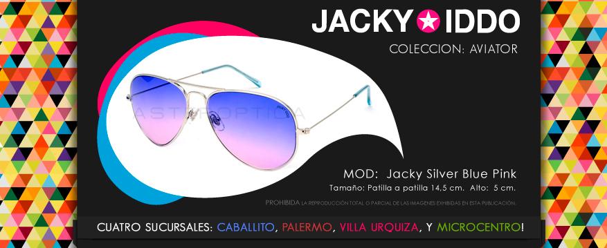 jacky silver blue pink